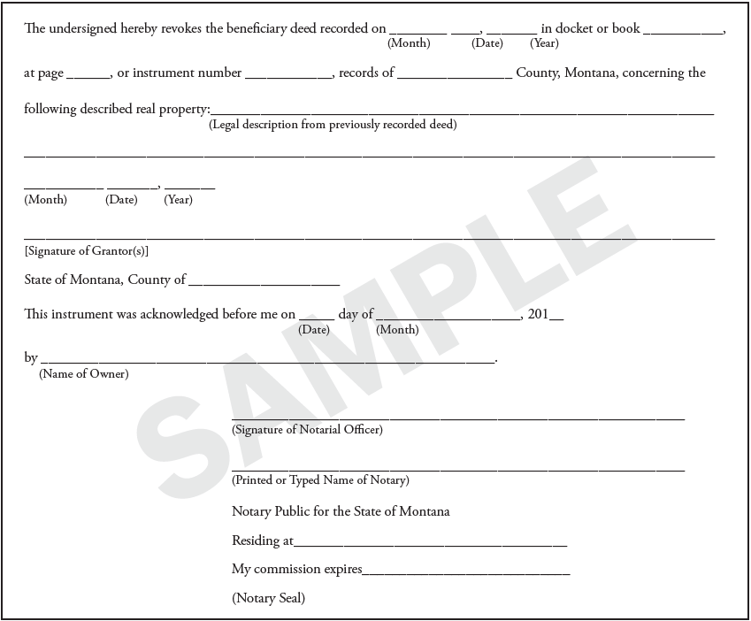 picture about Free Printable Beneficiary Deed named Beneficiary Deeds within Montana  No cost